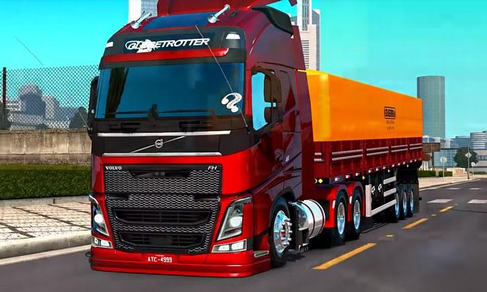 Caminhão Volvo FH460 4x2 + Reboque Granel Guerra Para V.1.30.X - ETS2