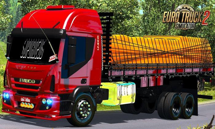 Caminhão Iveco Tector + Reboque Granel 2 Eixos Para V.1.30.X - ETS2