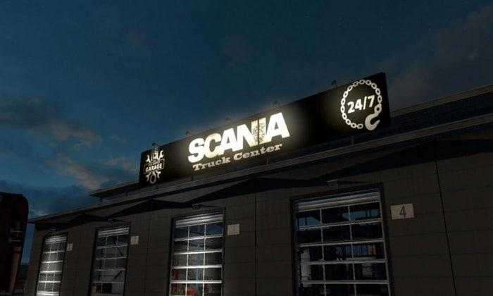 Mod Garagem Grande da Scania Para V.1.30.X - ETS2