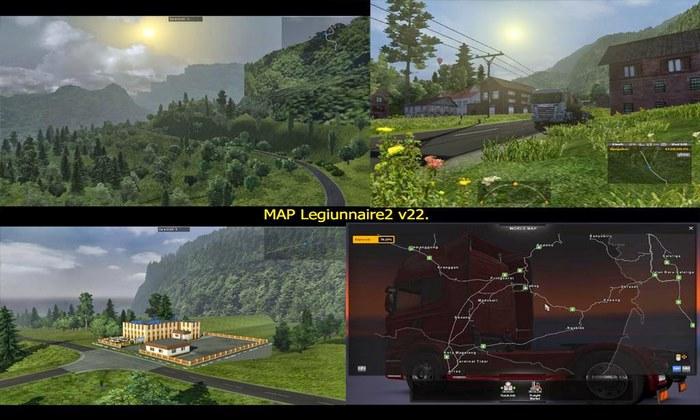 Mapa Legiunnaire 2 V.62 Para V.1.30.X - ETS2