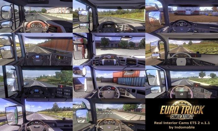 Mod Câmeras Reais Para Todos os Caminhões V.1.4.1 Para V.1.31.X - ETS2