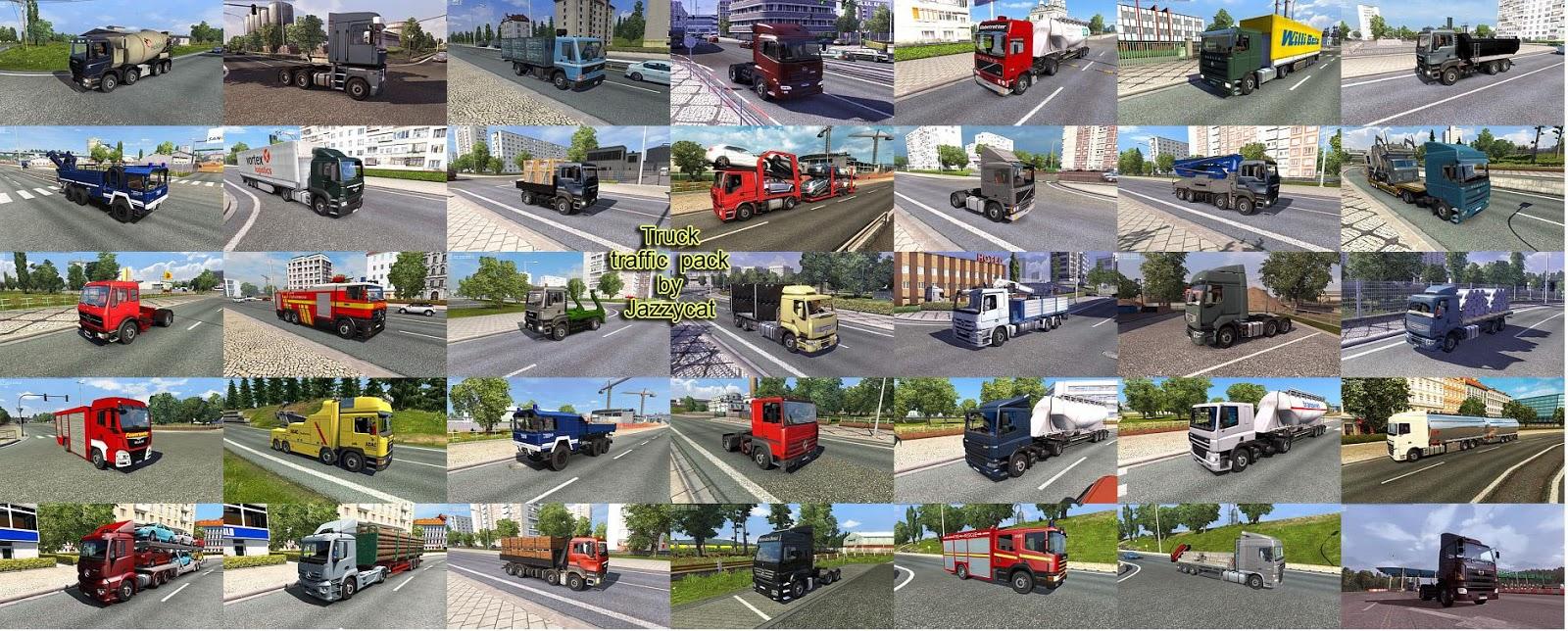 Pack de Caminhões Para o Tráfego V.3.0 Para V.1.31.X - ETS2