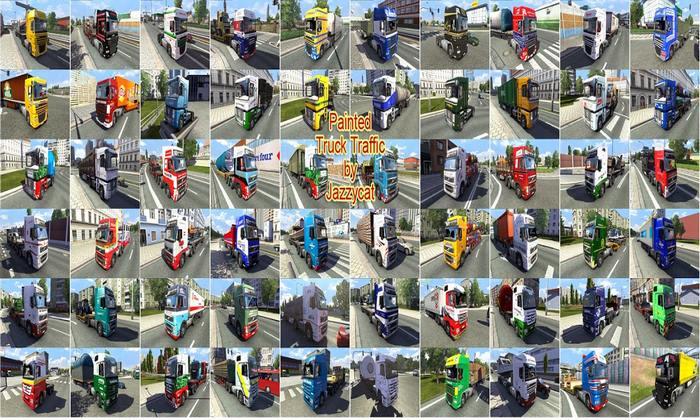 Pack de Caminhões do Tráfego Pintados Para V.5.7 Para V.1.31.X - ETS2