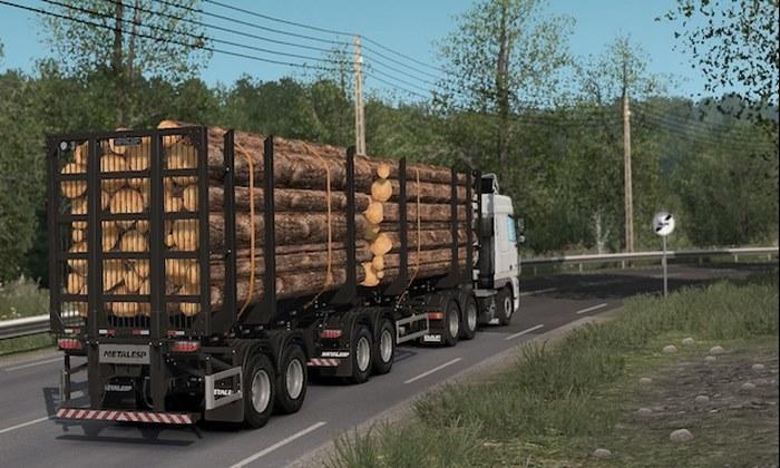 Reboque Bitrem Florestal 7 Eixos Metalesp V.0.2 Para V.1.31.X - ETS2