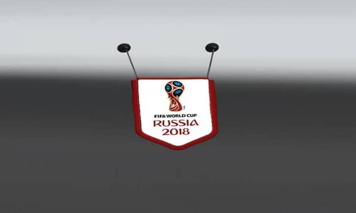 Acessório Bandeira Copa do Mundo 2018 Para V.1.31.X - ETS2