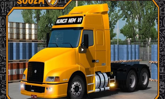 Caminhão Volvo NH12 V.2.0 Para V.1.31.X - ETS2