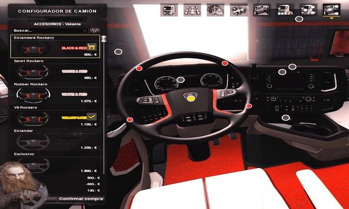 Pack Interior para Scania R e S 2016 Para V.1.31.X - ETS2