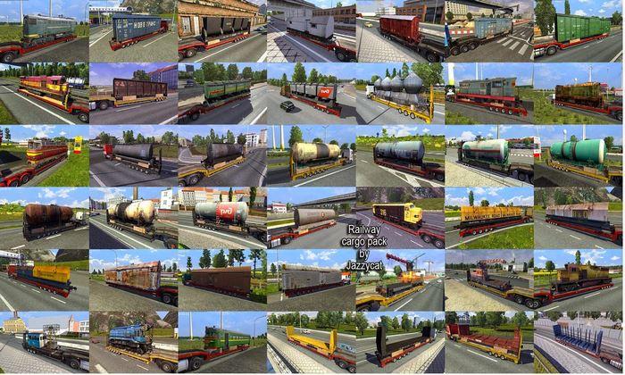 Pack de Cargas Ferroviários V.1.8.5 Para V.1.31.X - ETS2