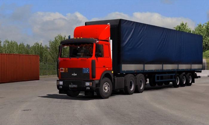 Caminhão MAZ-54323 (64229) + Reboque Para V.1.31.X - ETS2
