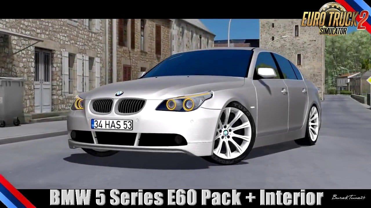 Carro BMW 5 Series E60 + Interior v2.0 Para V.1.31.X - ETS2