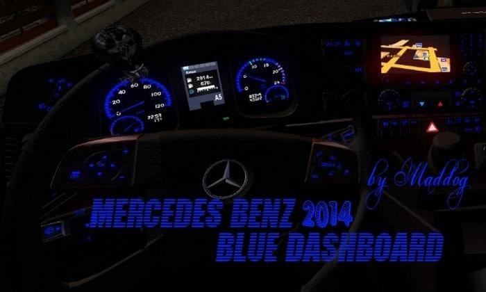 Interior Azul Mercedes-Benz 2014 Para V.1.31.X – ETS2