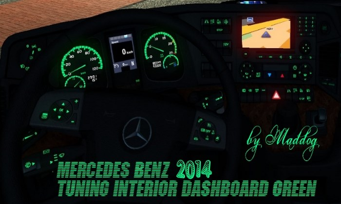 Interior Verde Mercedes-Benz 2014 Para V.1.31.X - ETS2