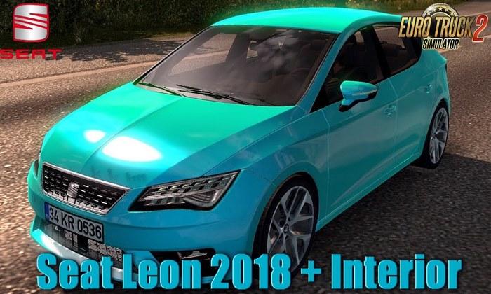 Carro Seat Leon 2018 + Interior v1.0 Para V.1.32.X - ETS2