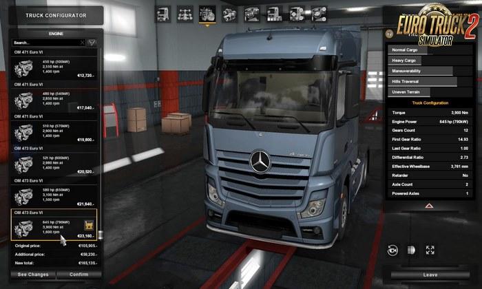 Motores Mais Fortes no Mercedes-Benz Para V.1.32.X - ETS2