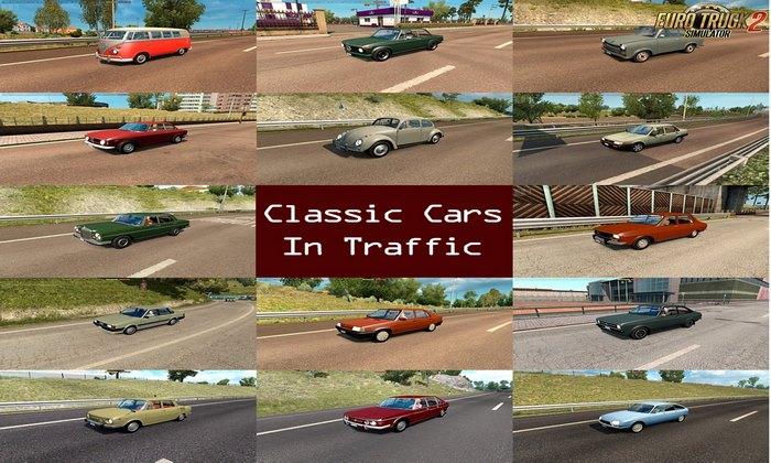 Pack Carros Clássicos no Tráfego v1.4 Para V.1.32.X - ETS2