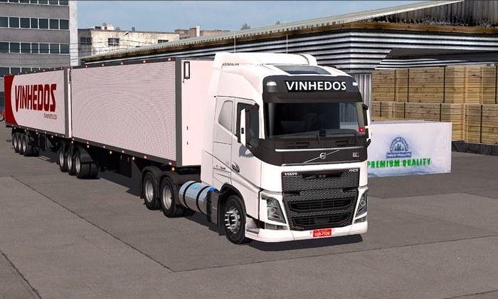 Pack Volvo 540 + Reboque 9 Eixos KikoBonesi Para V.1.32.X - ETS2
