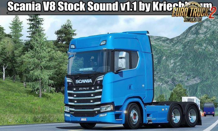 Som do Motor V8 do Scania v1.1 Para V.1.32.X - ETS2