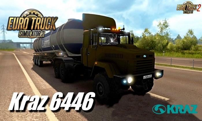 Caminhão Kraz 6446-64431 + Interior v1.0 Para V.1.32.X - ETS2