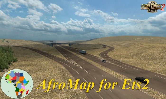 Mapa AfroMap v1.4 Para V.1.32.X - ETS2