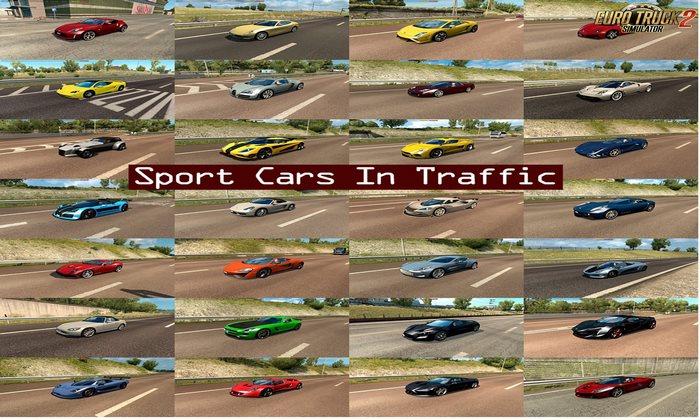 Pack Carros Esportivos no Tráfego v1.7 Para V.1.32.X - ETS2