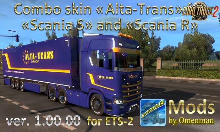 Skin Alta-Trans para Scania S e R + Reboque Para V.1.32.X - ETS2