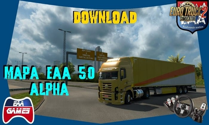 Mapa EAA Normal v5.0.1 Alpha Para V.1.32.X - ETS2