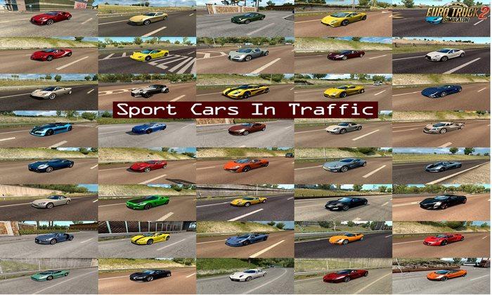 Pack de Carros Esportivos no Tráfego v1.9 Para V.1.32.X - ETS2