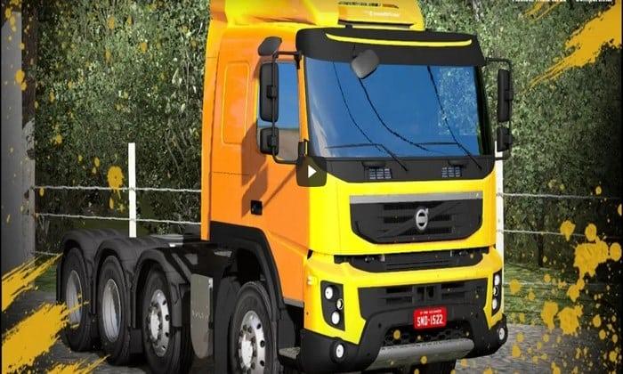 Caminhão Volvo FMX 540 8x4 Estilo BR Para V.1.32.X - ETS2