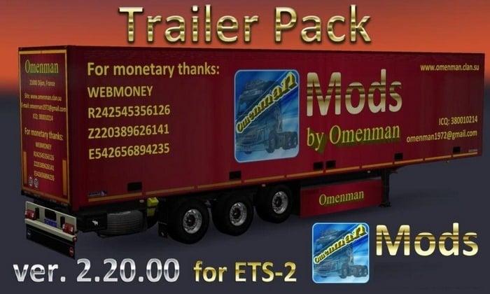 Pack de Reboques Omenman V.2.20 Para V.1.32.X - ETS2