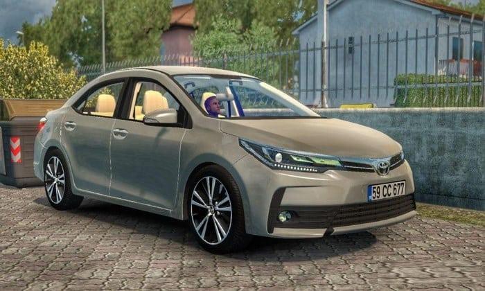 Carro Toyota Corolla 2018 V1R2 Para V.1.33.X - ETS2