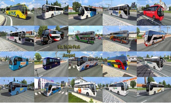 Pack de Ônibus Para o Tráfego V.5.9 Para V.1.33.X - ETS2
