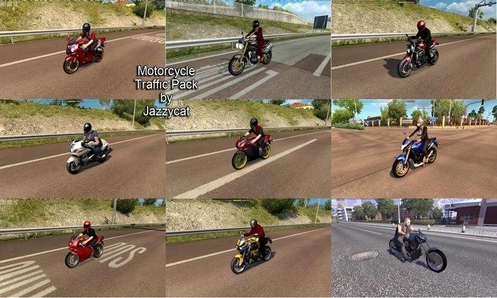 Pack de Motocicletas Para o Tráfego V.1.9 Para V.1.33.X - ETS2