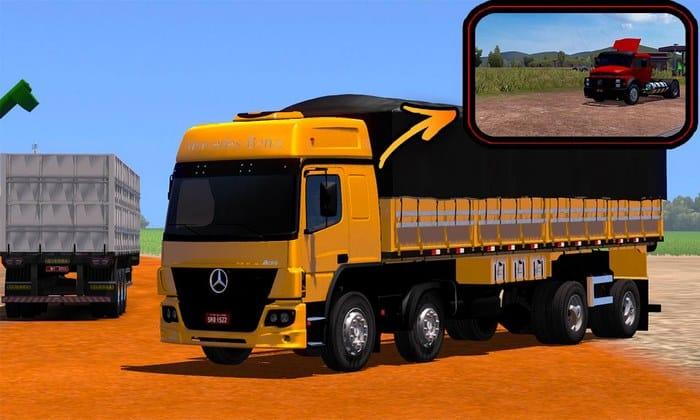 Caminhão Atego BiTruck Para V.1.33.X - ETS2