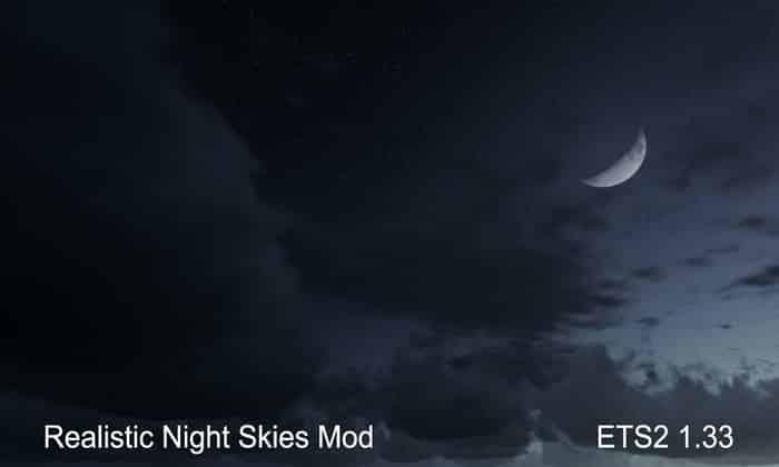 Mod Céu Noturno Mais Realista Para V.1.33.X - ETS2