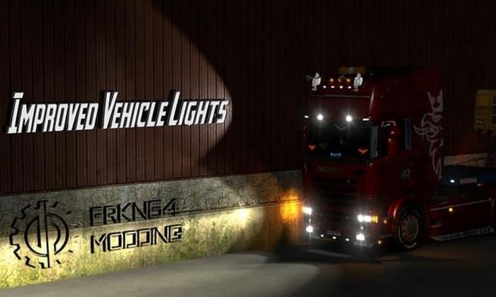 Mod Luzes do Veículo Melhoradas (Normal) V.4.0 Para V.1.33.X - ETS2