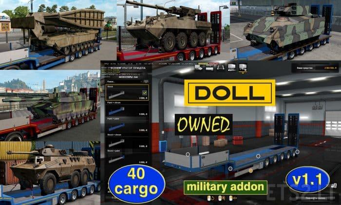 Pack de Cargas Militares V.1.1 Para V.1.33.X - ETS2