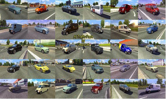 Pack de Carros Para o Tráfego V.9.1 Para V.1.33.X - ETS2