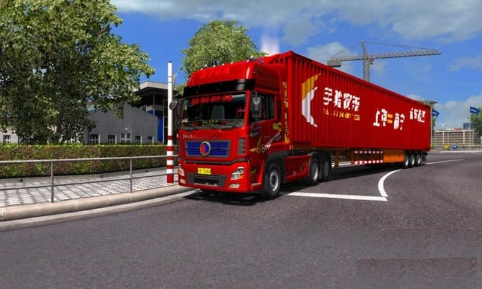 Reboque Logistics Container 17.5M Para V.1.33.X - ETS2