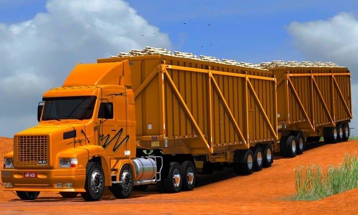Caminhão Volvo NL12 EDC + Reboque Para V.1.34.X - ETS2