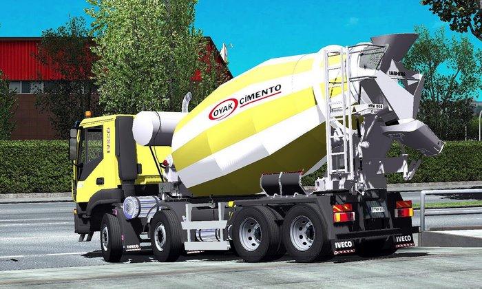 Caminhão Iveco HiLand Betoneira para V.1.34.X - ETS2