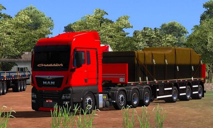 Caminhão MAN Euro 6 BR + Reboques Para V.1.34.X - ETS2