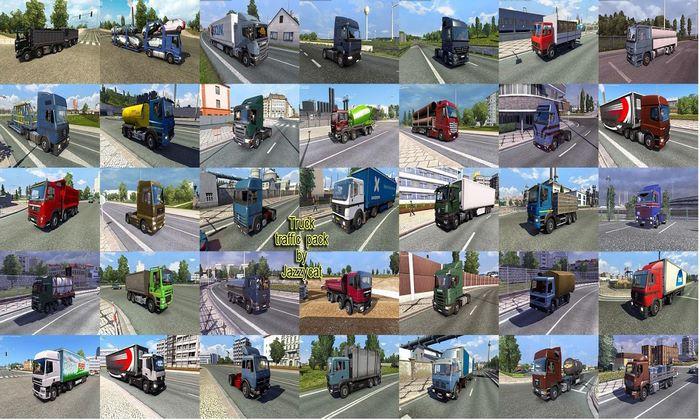 Pack de Caminhões Para Tráfego V.3.4 Para V.1.34.X - ETS2