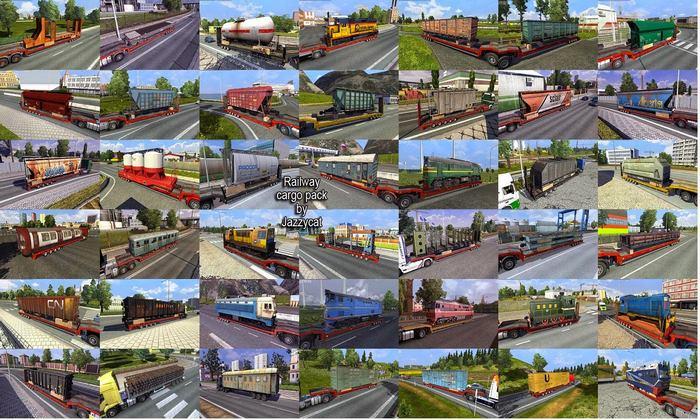 Pack de Cargas Ferroviários V.1.9 Para V.1.34.X - ETS2