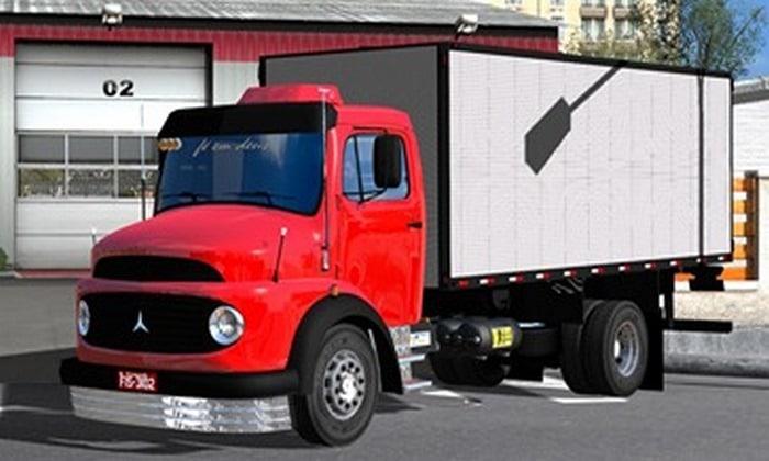 Caminhão Mercedes Benz 1113 + Baú Para V.1.35.X - ETS2