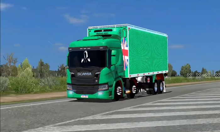 Caminhão Scania New P Para V.1.35.X - ETS2