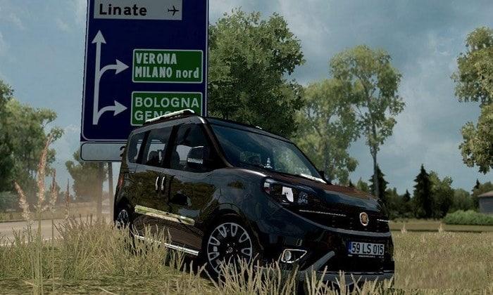 Carro Fiat Doblo D4 2018 V1R4 Para V.1.34.X - ETS2