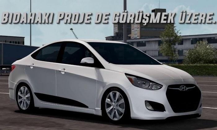 Carro Hyundai Accent Blue Para V.1.35.X - ETS2