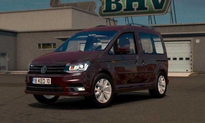 Carro Volkswagen Caddy Para V.1.34.X - ETS2