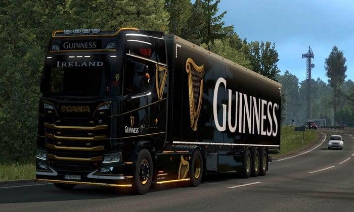 Skin Guinness Scania S e R Para V.1.35.X - ETS2