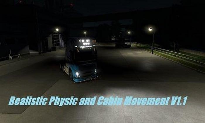 Mod Física de Cabine Realista V.1.2 Para V.1.35.X - ETS2